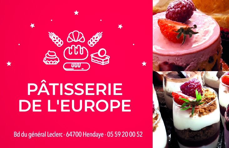 Partenaire Hendaye Bidassoa Surf Club - Pâtisserie de l'Europe Hendaye