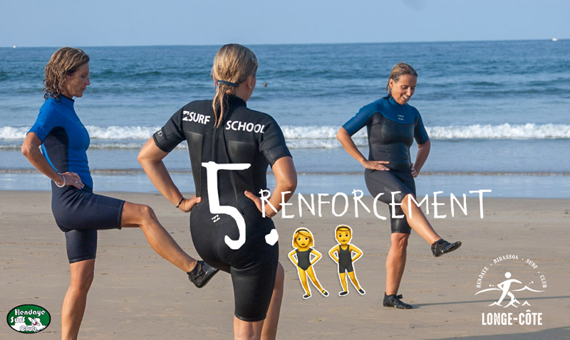 Hendaye surf longe-côte HBSC